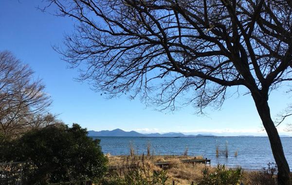 琵琶湖を臨む