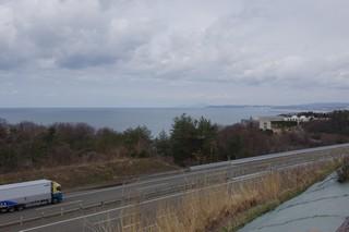 米山SAより日本海を望む