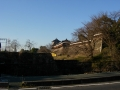 160312郡山城を横目に近鉄線通過