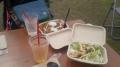 160306エスキーナのキーマカレーとアヒージョ丼