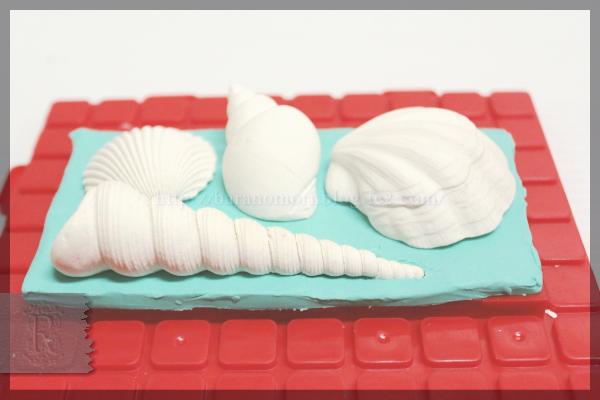 シリコンモールド 型 作り方 手作り石鹸 貝殻 球 20160318
