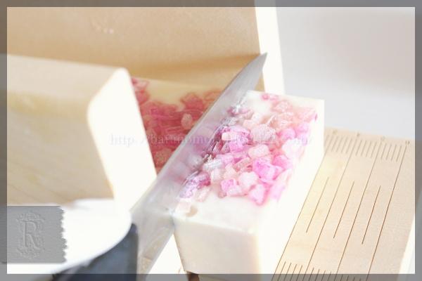 桜石鹸 切り出し ゴートミルク シアバター 20160304