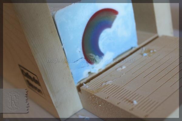 虹 空 手作り石鹸 20160326