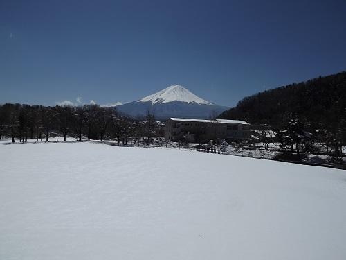 DSCF3030 学園2階から富士