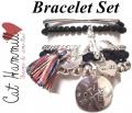 A302 Love tassel bracelet set silver (4)1