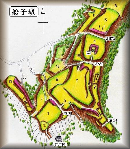 船子城址縄張り図