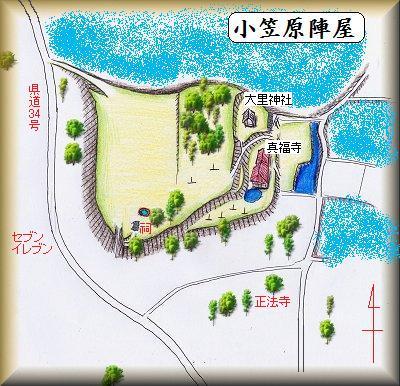 小笠原陣屋縄張り図