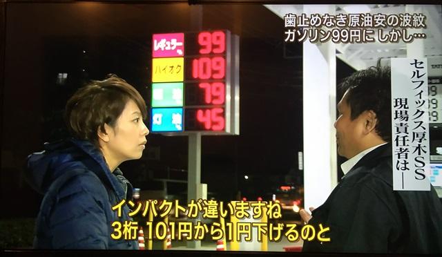 ガソリン値段2