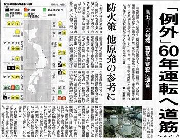 16.2.25朝日・高浜1、2号機60年運転へ
