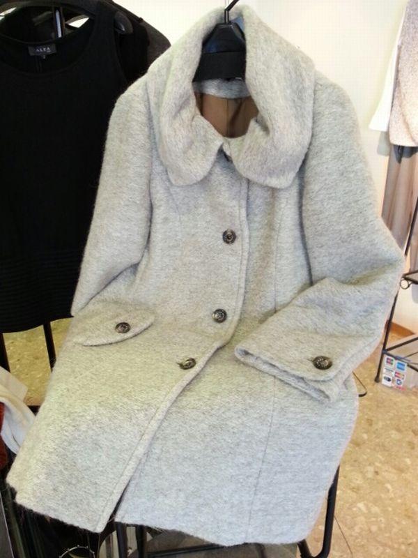 リメイクモヘアコート袖丈①