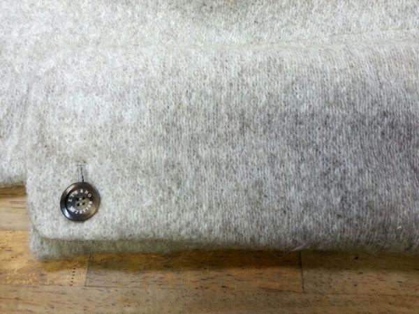 リメイクモヘアコート袖丈②