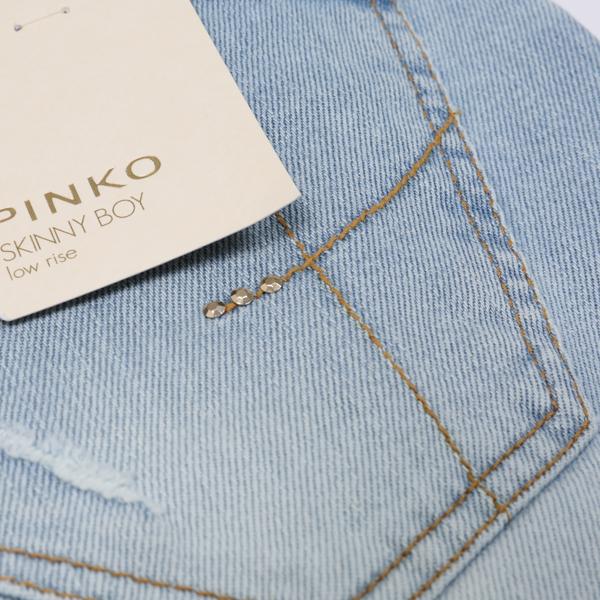 ピンコ・PINKOのヴィンテージ加工のクラッシュデニム