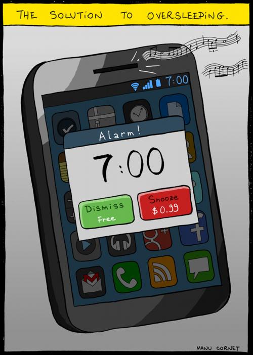 スヌーズ機能が面白い目覚ましアプリ