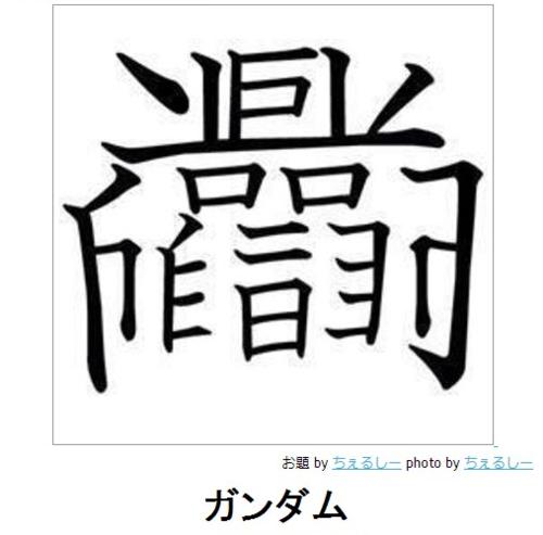 ガンダムという漢字