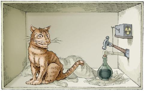 シュレーディンガーの猫 イラスト