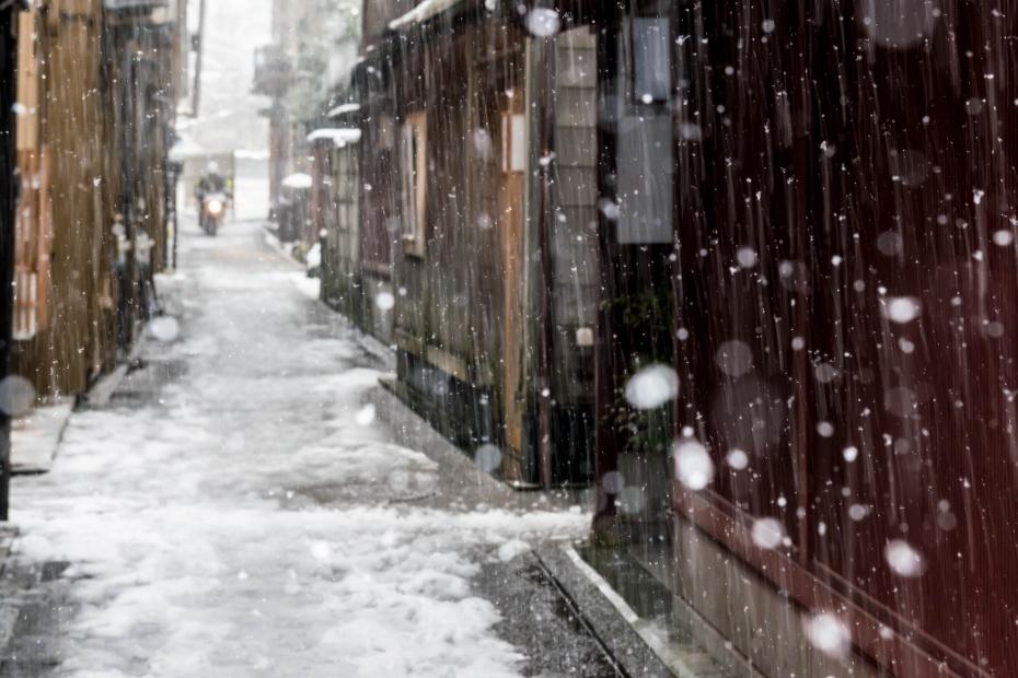 2016.02.26雪景色の主計町11