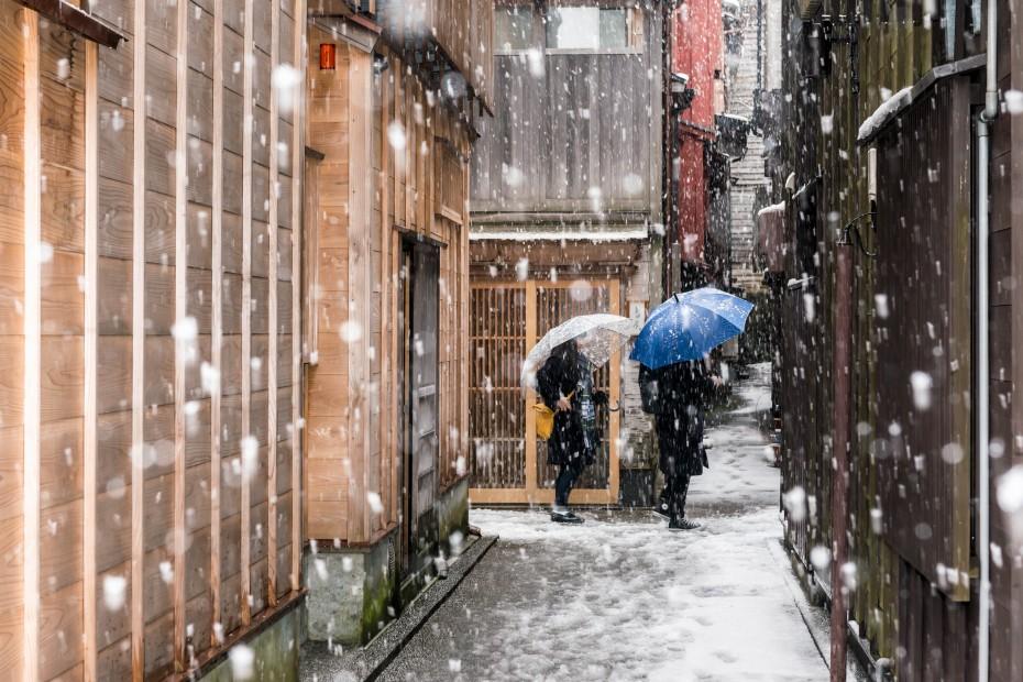 2016.02.26雪景色の主計町10