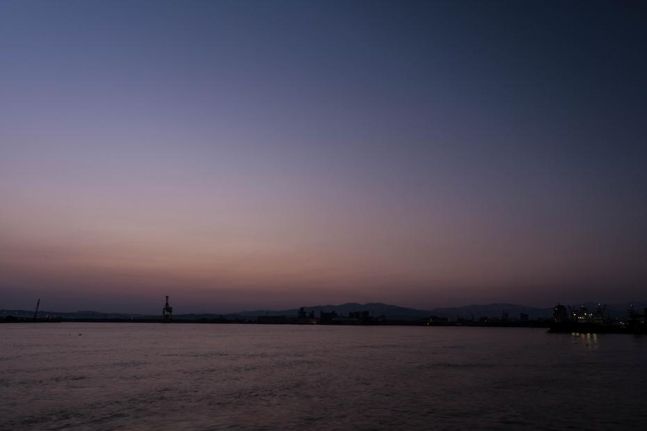 2016.02.28金沢港からの日の出2