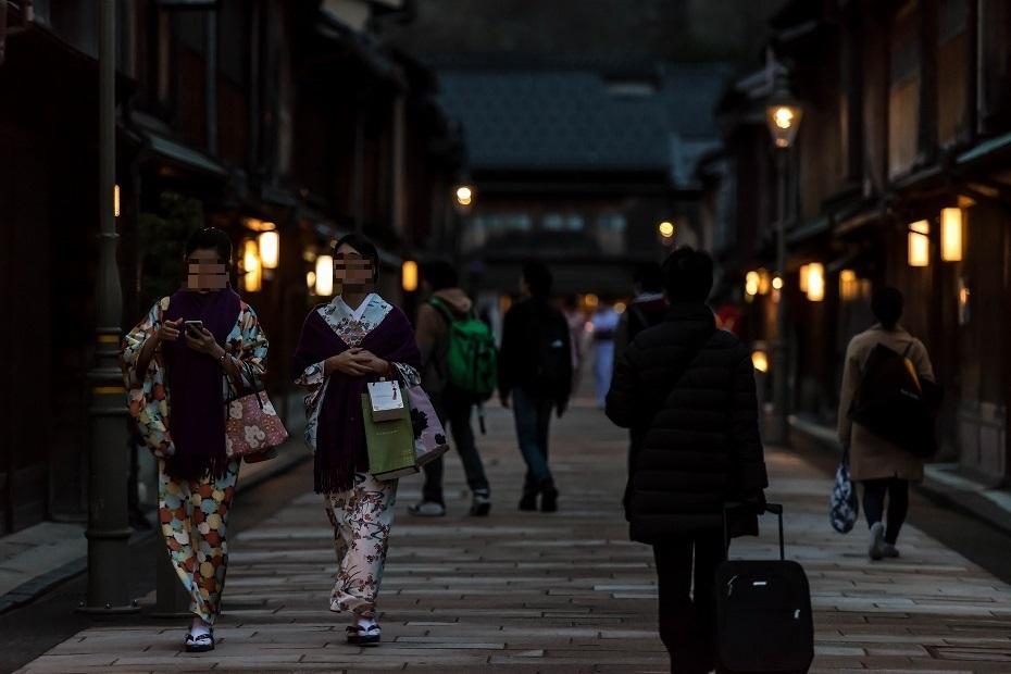 2016.03.08ひがし茶屋街の夕暮れ2