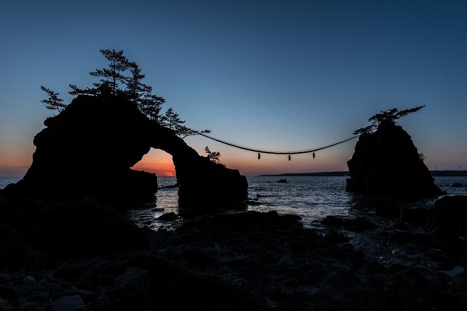2016.03.15機具岩夕景9