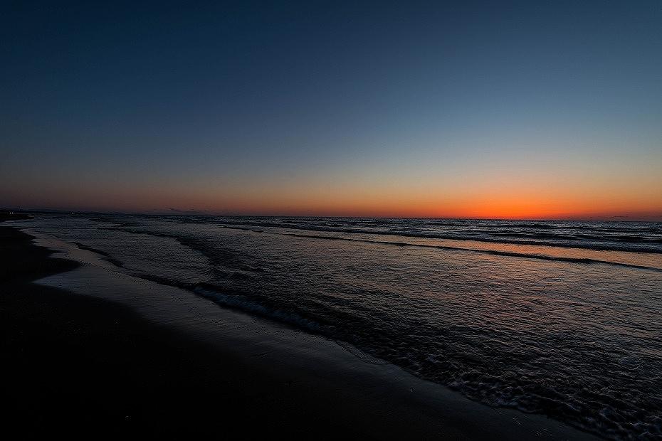 2016.03.21千里浜の夕焼け3