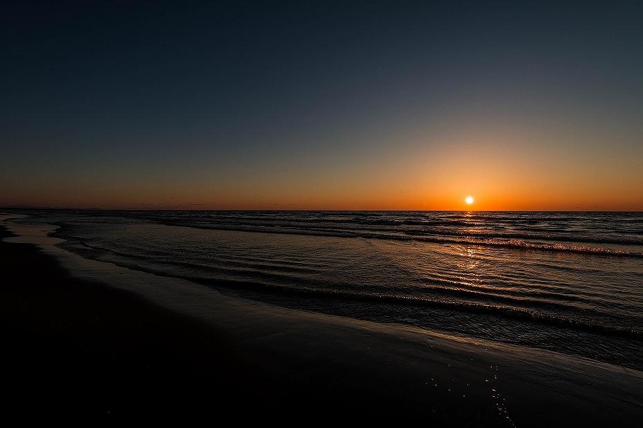2016.03.21千里浜の夕焼け1