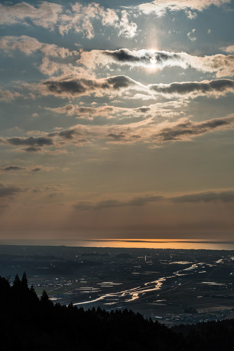 2016.03.27加賀平野の夕焼け1