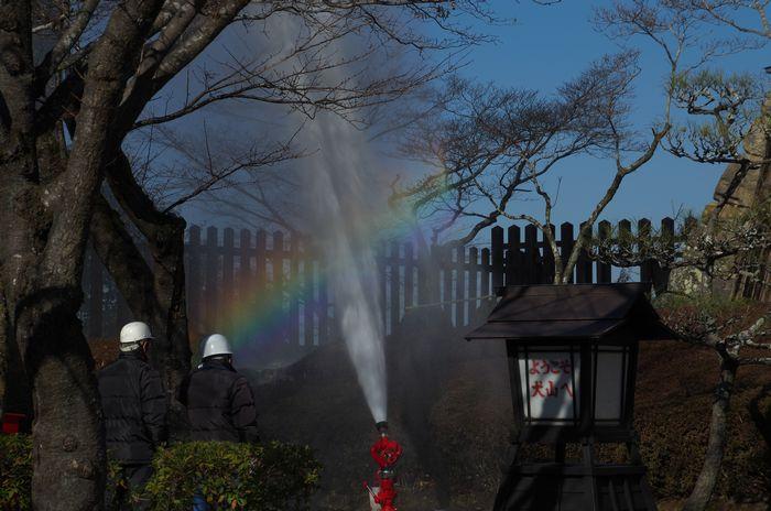 2016-1-30-1放水で虹が