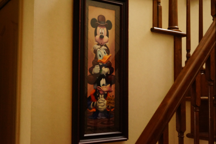 Disney HAUNTED MANSION 45th Anniversary Stretching Room Framed Lithograph Print cafewalt