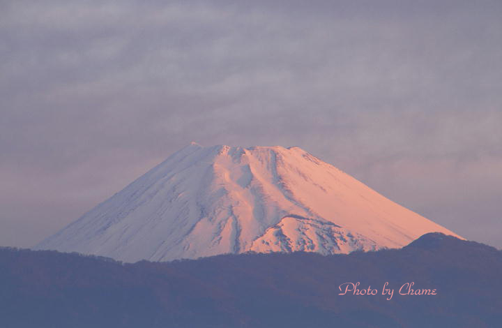 3月18日 5-58 今朝の富士山