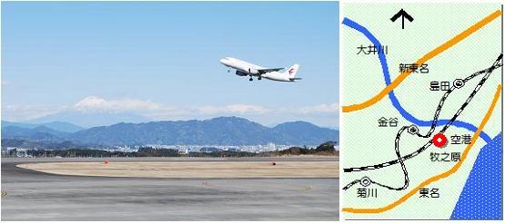 静岡空港マップ