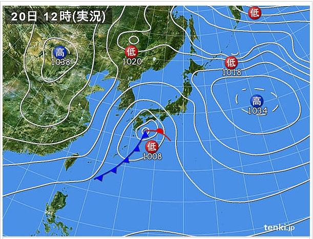 22012時天気図
