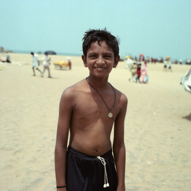 A boy on the beach