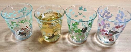 ねこ日和グラス