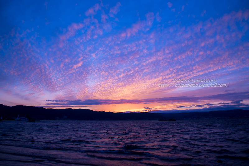 2016 2月24日 諏訪湖夕景 3-3219