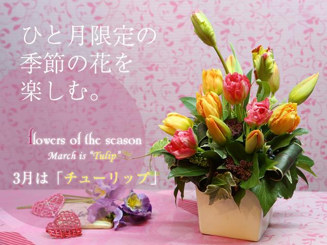 3月 花 誕生日 人気 アレンジ チューリップ