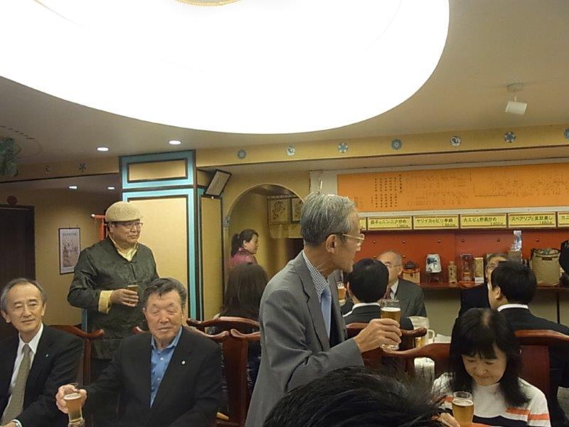 ㈭松尾幹事孔健さん乾杯ご発声
