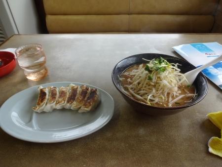 033味噌ラーメンと餃子