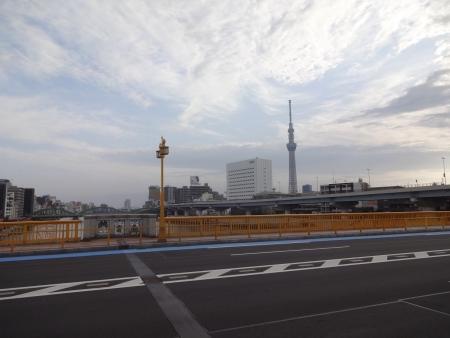 009隅田川、蔵前橋の上から