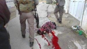 イスラエル兵士に撃たれて死んだパレスチナの14歳の少女