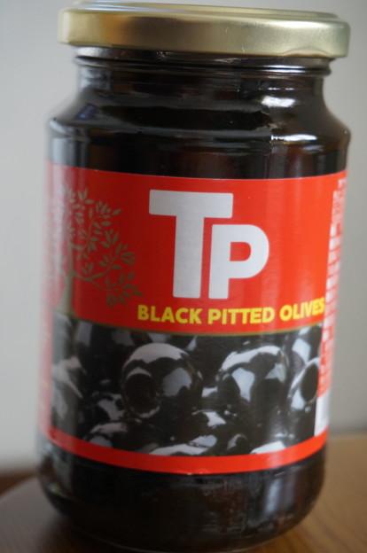 ブラックオリーブの瓶詰