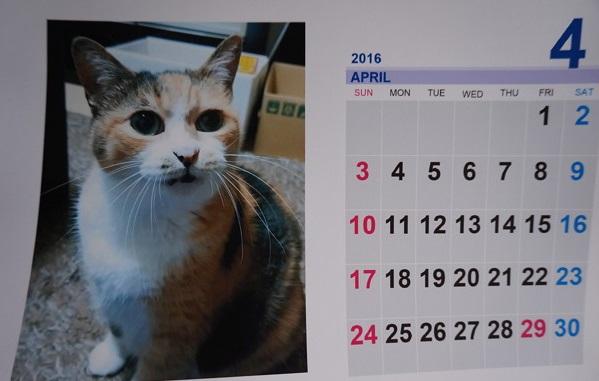 2016.4のカレンダー