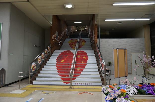 階段いっぱいのハートマーク