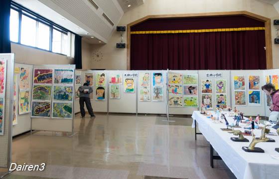 地区小中学校生徒絵画展