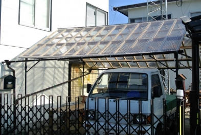 DIYテント屋根1
