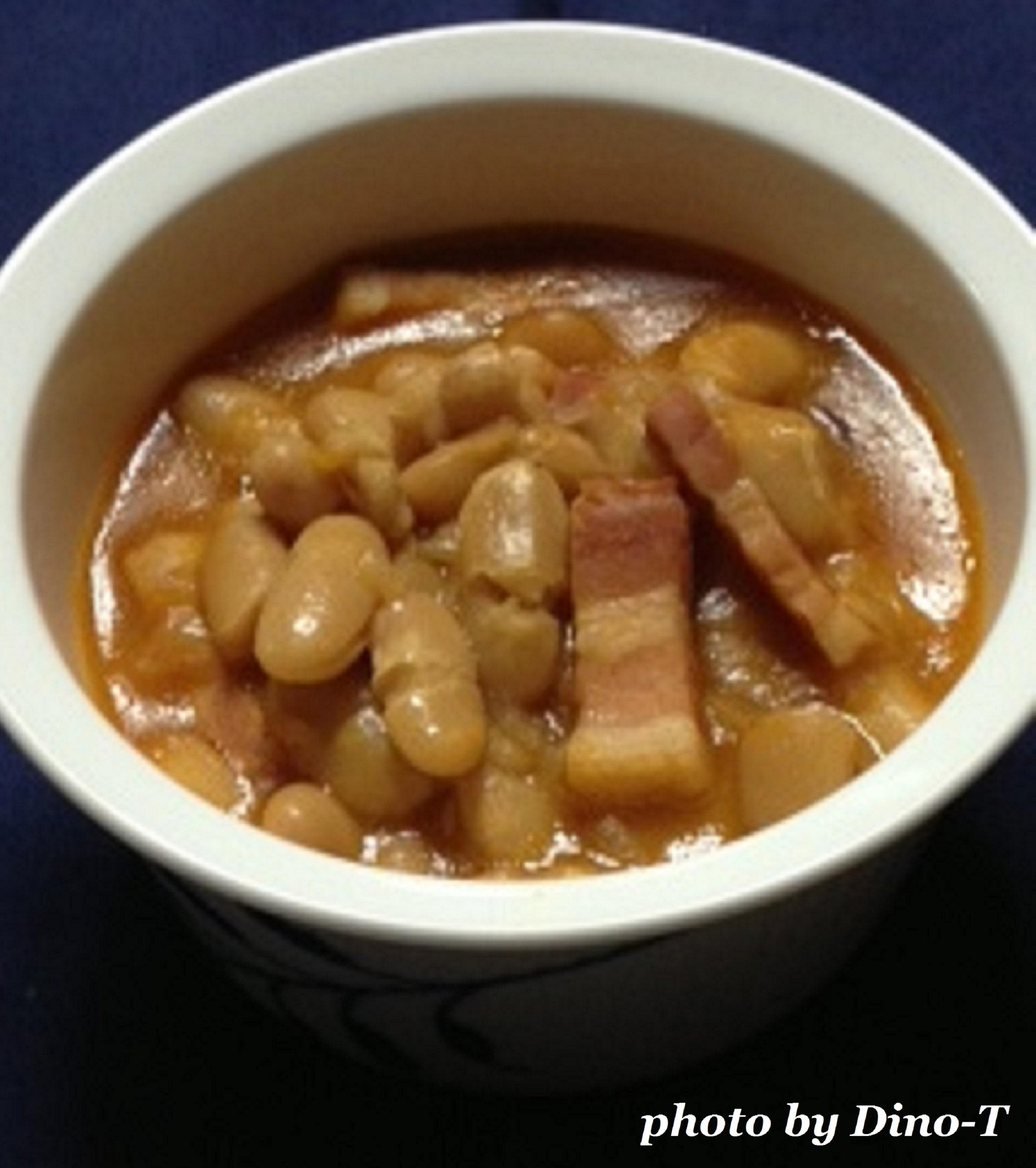 白いんげん豆とパンチェッタのチリ1