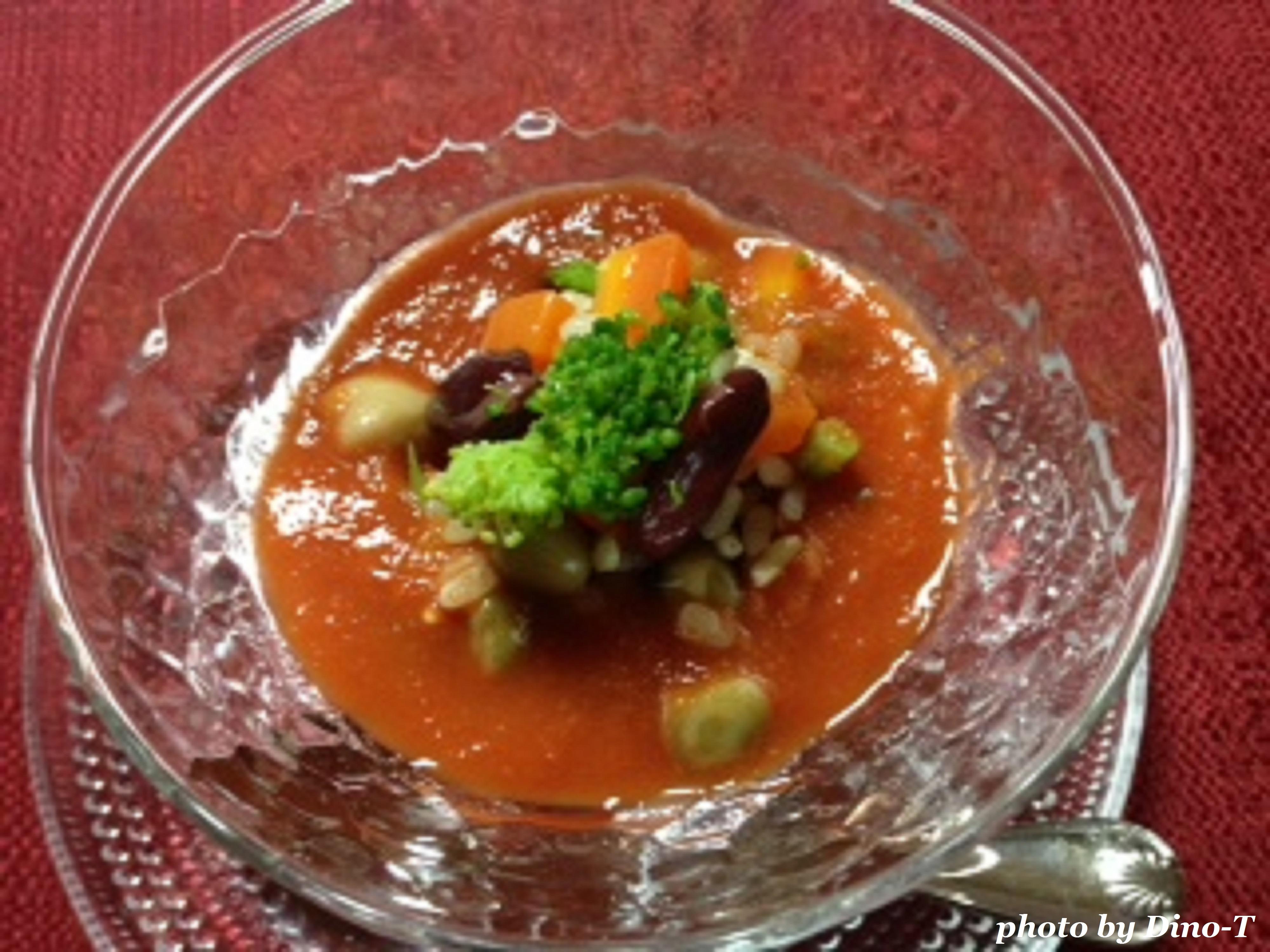 グレインズサラダの冷製スープ
