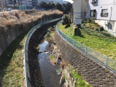 東橋より三沢川上流を望む