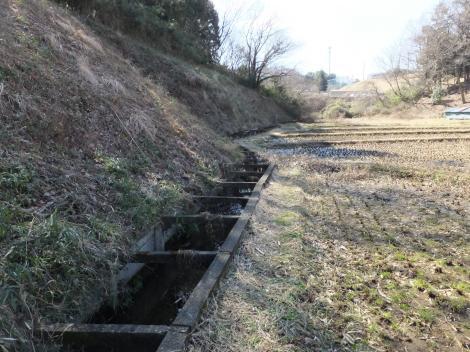 三沢川上流を望む・川崎市麻生区黒川