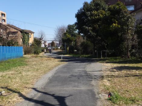 旧二ケ領用水路跡・川崎市高津区二子坂戸緑道